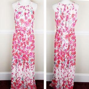 Eliza J  Halter Maxi Dress Size 12 Floral A0113